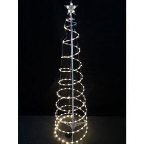 TREE LED METAL 30X30X150 200 LEDS EXTERNAL 3D