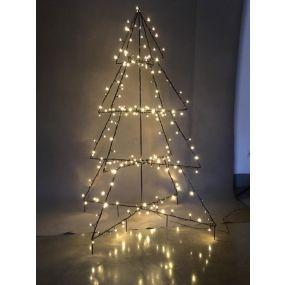 TREE LED METAL 30X30X120 160 LEDS IP44 5M.CABLE 3D