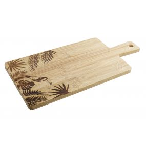 CUTTING/CHOPPING BOARD BAMBOO 33X15X1 LEAVES