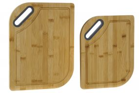 CUTTING/CHOPPING BOARD SET 2 BAMBOO 33X25X1,5