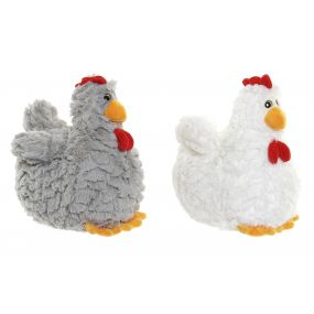 CUDDLY TOY POLYESTER 18X20X23 CHICKEN 2 MOD.