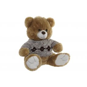 CUDDLY TOY POLYESTER 42X40X43 BEAR BROWN