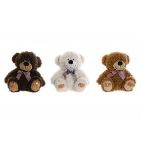 CUDDLY TOY POLYESTER 24X24X26 BEAR 3 MOD.