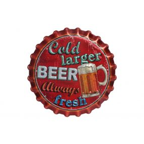 STICKER PVC LED 30X30 BEER RED