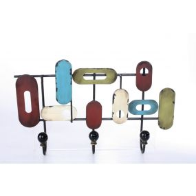 WALL CLOTHES RACK METAL 39X7X23 POP MULTICOLORED