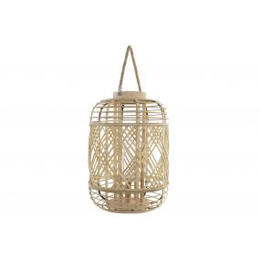 CANDLE HOLDER BAMBOO MDF 29X29X42,5 NATURAL