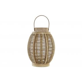 CANDLE HOLDER BAMBOO ROPE 22X22X31 NATURAL