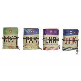 NOTEBOOK PU PAPER 8,5X2X11,5 AIRPORT 4 MOD.