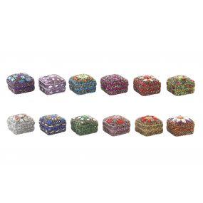 BOX ACRYLIC ALUMINIUM 4,5X4,5X3,5 12 MOD.