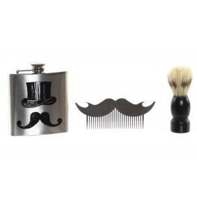 PRESENT/GIFT SET 3 INOX 1 HIPSTER HIP FLASK SILVER