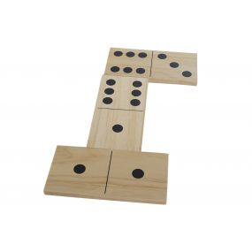 GAME WOOD 35,5X18,4X9,5 DOMINO GIANT NATURAL