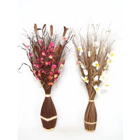 BOUQUET DRY FLOWER 25X20X100 45 CM NATURAL FLOWERS