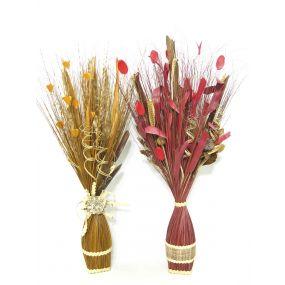 BOUQUET COCO FIBER 45X100 45 CM FLOWERS NATURAL 2