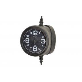 WALL CLOCK METAL GLASS 41,5X32X56 41,5 DOUBLE AGED