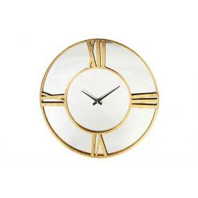 WALL CLOCK METAL GLASS 60X4,5X60 GOLDEN