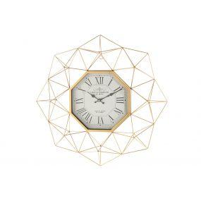 WALL CLOCK METAL GLASS 60X8X60 GOLDEN