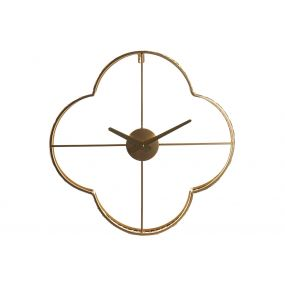 CLOCK METAL 45X6X45 ETHNIC GOLDEN