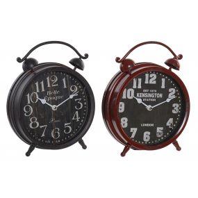 CLOCK METAL GLASS 21X6X26 21 AGED 2 MOD.