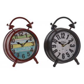 CLOCK METAL GLASS 16X6X20 16 AGED 2 MOD.
