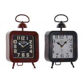 CLOCK METAL GLASS 15,5X6X27 15,5 AGED 2 MOD.