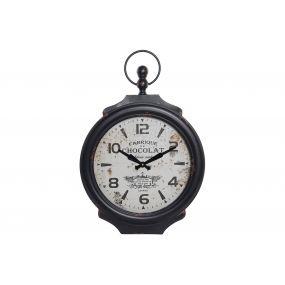 WALL CLOCK METAL GLASS 46X5X68 46 BLACK