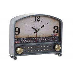 CLOCK METAL GLASS 26X7X21,5 RADIO