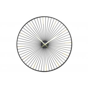 WALL CLOCK METAL 100X5X100 RADIOS BLACK