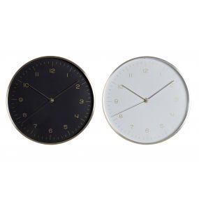 WALL CLOCK ALUMINIUM 25X4X25 25 2 MOD.