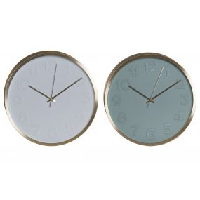 WALL CLOCK ALUMINIUM 30X4X30 30 2 MOD.