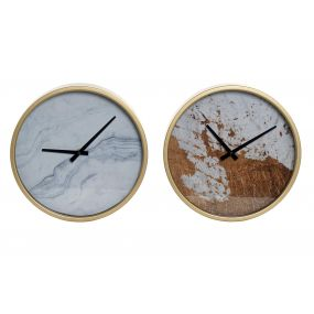 WALL CLOCK METAL GLASS 30X6X30 30 2 MOD.