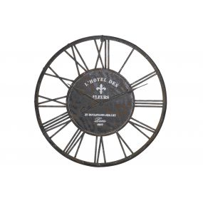 WALL CLOCK METAL 79X4X79 79 BLACK