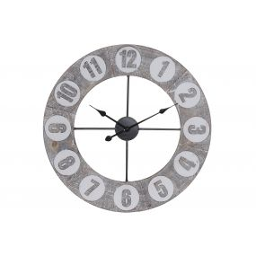 WALL CLOCK MDF IRON 68X4X68 68
