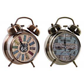 ALARM CLOCK METAL 11,5X5,5X16 AGED 2 MOD.