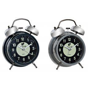 ALARM CLOCK METAL 11,5X5,5X6,5 2 MOD.