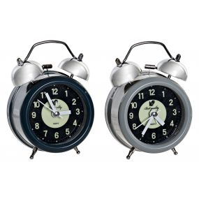ALARM CLOCK METAL 9X5,5X12 2 MOD.