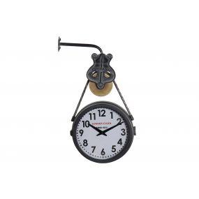 WALL CLOCK METAL GLASS 30X9X55