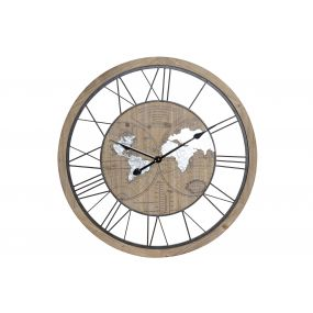 WALL CLOCK METAL MDF 70X4X70 70 NATURAL