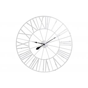 WALL CLOCK METAL 90X2X90 90 WHITE