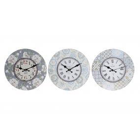 WALL CLOCK MDF 33,8X3,8X33,8 3 MOD.