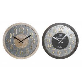 WALL CLOCK METAL MDF 60X7,5X60 2 MOD.