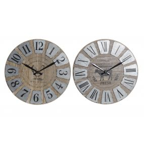 WALL CLOCK METAL MDF 60X7X60 CHICKEN 2 MOD.