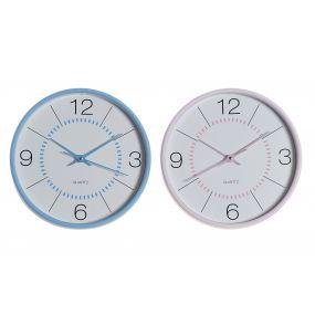 CLOCK PVC GLASS 25,5X4,3X25,5 2 MOD.