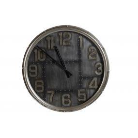 WALL CLOCK METAL 79X8X79 AGED DARK GRAY