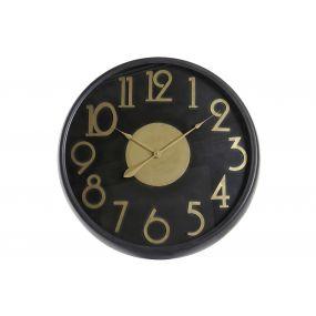 WALL CLOCK METAL 79X10X79 GOLDEN