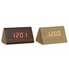 ALARM CLOCK MDF PVC 12X7,5X6,5 DIGITAL 2 MOD.