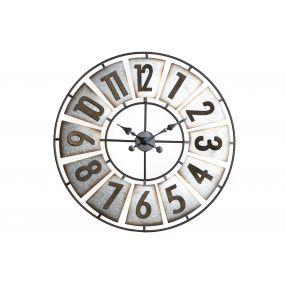 CLOCK METAL MDF 80X4X80