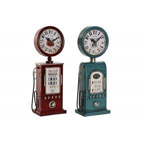 TABLE CLOCK METAL PP 13X7,5X35 GAS 2 MOD.