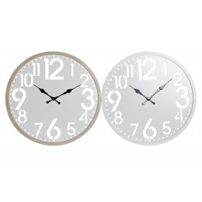 WALL CLOCK MDF WOOD 60X4,5X60 2 MOD.