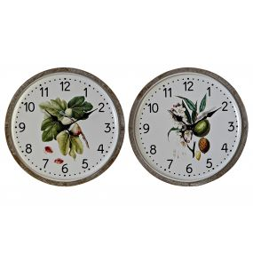 WALL CLOCK METAL MDF 30,5X3X30,5 LEAVES 2 MOD.