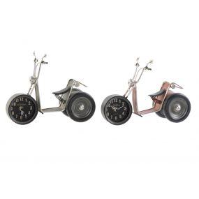 TABLE CLOCK IRON 27X12X19 MOTORCYCLE 2 MOD.